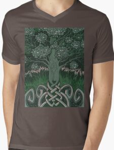 Tree of cognizance - acrylic on board Mens V-Neck T-Shirt