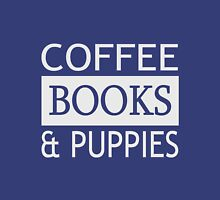 Coffee, Books & Puppies  Womens Fitted T-Shirt