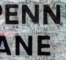 Penny Lane Sticker Sticker