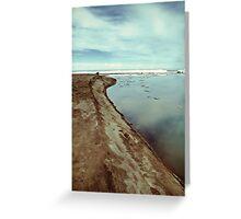 Lake Erie Ice Flow 2 Greeting Card