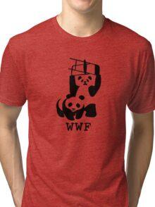 Rasslin Pandas - Funny T-Shirts Tri-blend T-Shirt