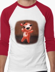 Voodoo Doll Evil Devil Cartoon Men's Baseball ¾ T-Shirt