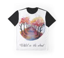 Wild is the Wind - Watercolour Print Graphic T-Shirt