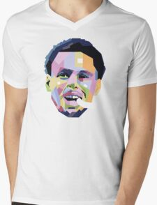 Steph Curry ART Mens V-Neck T-Shirt