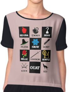 Once Upon A Time T-Shirt Chiffon Top