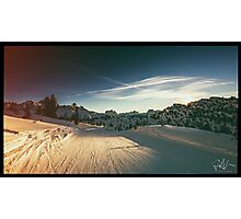 late on the ski slope Photographic Print