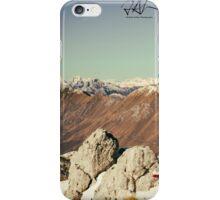 man admiring the alps iPhone Case/Skin