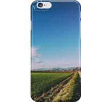 spring evening in the italian countryside iPhone Case/Skin