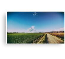 spring evening in the italian countryside Canvas Print