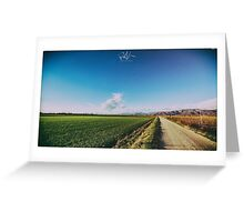 spring evening in the italian countryside Greeting Card