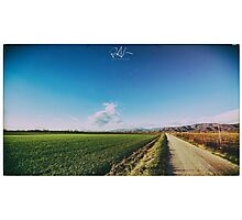 spring evening in the italian countryside Photographic Print