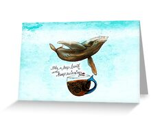 What my Coffee says to me April 8, 2016 Greeting Card