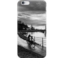 two bikes next to Salzach river of Salzburg iPhone Case/Skin
