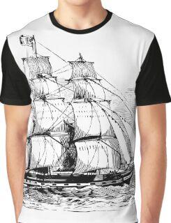 Ship at Sea Graphic T-Shirt