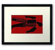 otto preminger's anatomy of a murder Framed Print