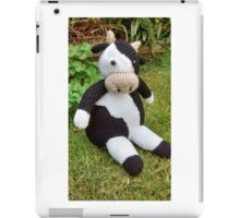 Hand Knitted Cow iPad Case/Skin
