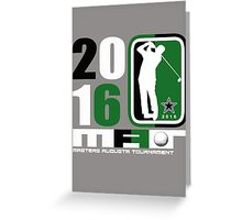 masters augusta Greeting Card