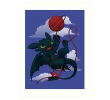 Dragons just wanna get fun - day version Art Print