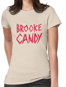 Brooke Candy - Red Brush Logo Womens Fitted T-Shirt