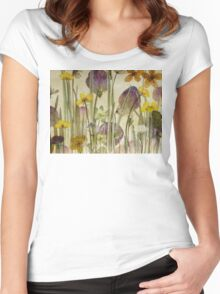 Victorian Meadow closeup Women's Fitted Scoop T-Shirt