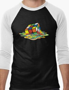 Melting Rubick's Cube - Sheldon Cooper T-Shirts Men's Baseball ¾ T-Shirt
