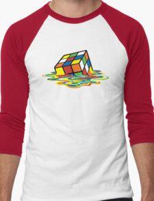 Melting Rubick's Cube - Sheldon Cooper T-Shirts Men's Baseball ¾ T-Shirt