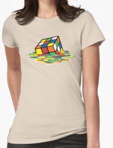 Melting Rubick's Cube - Sheldon Cooper T-Shirts Womens Fitted T-Shirt