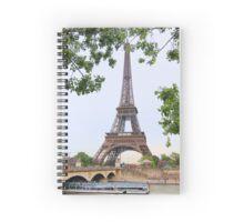 Eiffel Tower and Seine River Spiral Notebook
