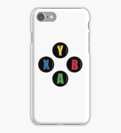 X Box Buttons - Grunge Style iPhone Case/Skin