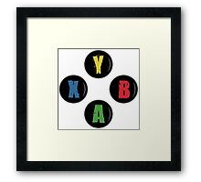 X Box Buttons - Grunge Style Framed Print