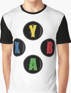 X Box Buttons - Grunge Style Graphic T-Shirt
