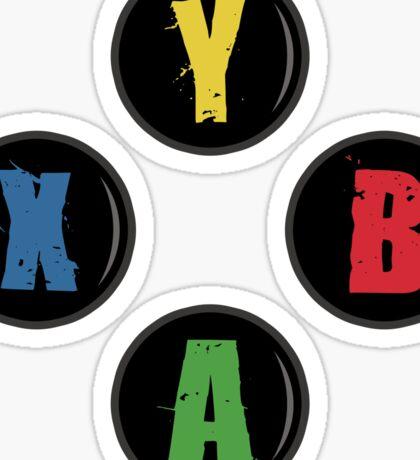 X Box Buttons - Grunge Style Sticker