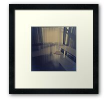 Love heart on table - Hasselblad 500cm hand made darkroom color print Framed Print