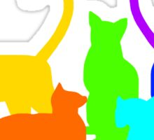Rainbow Cats Sticker