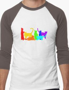 Rainbow Cats Men's Baseball ¾ T-Shirt