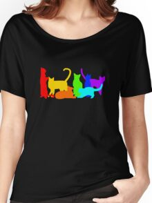 Rainbow Cats Women's Relaxed Fit T-Shirt