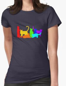 Rainbow Cats Womens Fitted T-Shirt
