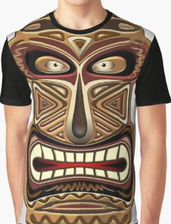 Africa Ethnic Mask Totem Graphic T-Shirt