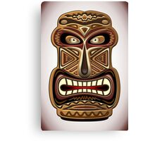 Africa Ethnic Mask Totem Canvas Print