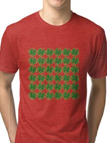 Four Leaf Clover Pattern Tri-blend T-Shirt