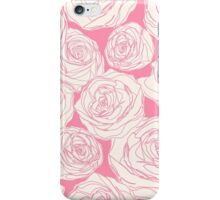 Pattern with pink roses iPhone Case/Skin