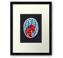 Smug red horse portrait Framed Print
