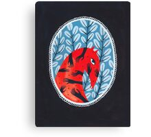 Smug red horse portrait Canvas Print