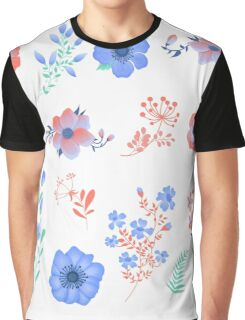 Floral Set of Beautiful Flowers and Leaves. Design elements for decoration Graphic T-Shirt