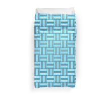 Pattern 107: Striped squares in white and blue Duvet Cover