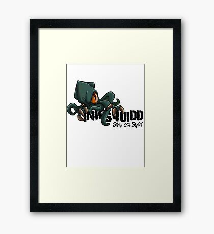 OFFICIAL INKSQUIDD - SINK OR SWIM   Framed Print