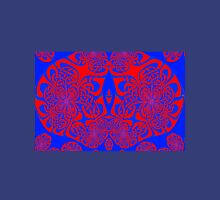 A Red & Blue knotwork (c17a) design  Womens Fitted T-Shirt