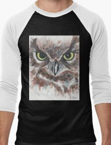 Owl Face in Watercolor T-Shirt