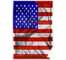 Stars and Stripes Usa Silk Flag Poster
