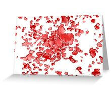 Red hearts on white background Greeting Card